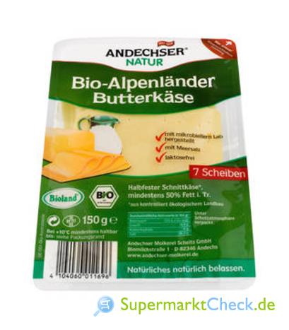 Foto von Andechser Natur Bio-Alpenländer Butterkäse