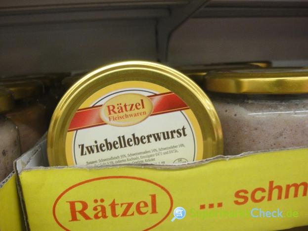 Foto von Rätzel Zwiebel Leberwurst